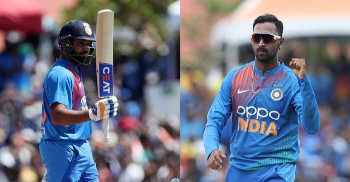 india won the second t20 rohit and krunal heroes of the match